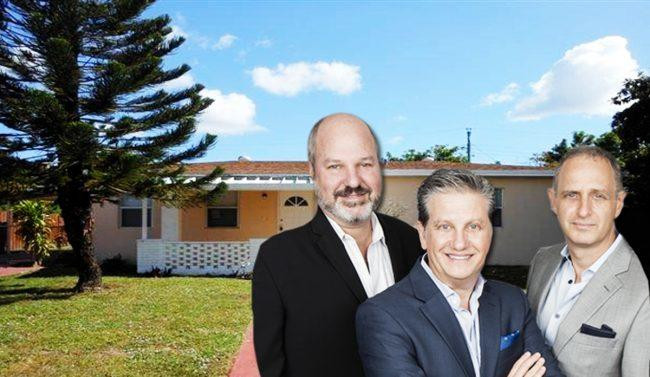 Rental home and (from left to right) PIA Group's Danny Kattan, Saul Levy and Jimmy Levy