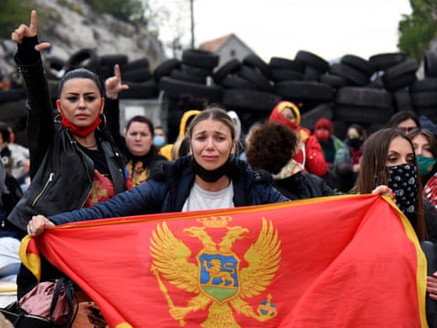 Montenegro police teargas protesters