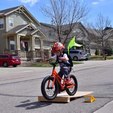 Kideaux Dragon- flies on a bike