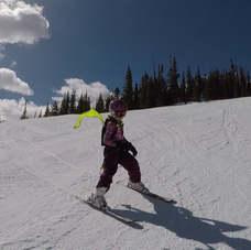 Kideaux Dragon on the ski slopes