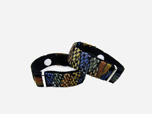 Designer Anti-Nausea Bracelets, Motion Sickness Wristbands (Pair) Chamois & Sky