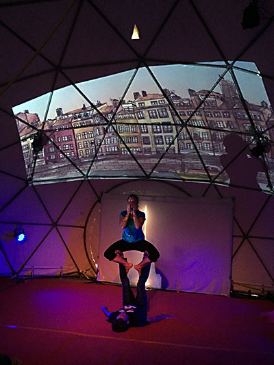 Sous le Chapidôme d'Arts Vie & Vents, Satillieu (07)