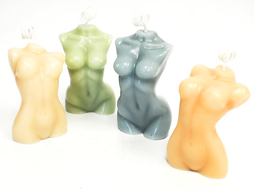 Divine Feminine | Beeswax Candle | Pastel Colours | Human Figure Candle