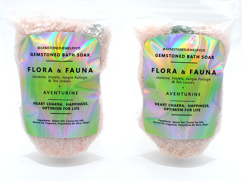 Flora & Fauna | GEMSTONED BATH SOAK | Aventurine |