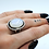 Thumbnail: Size 8-8 1⁄4   Moonstone   Sterling Silver Ring   Rough Hands Silver   RH28