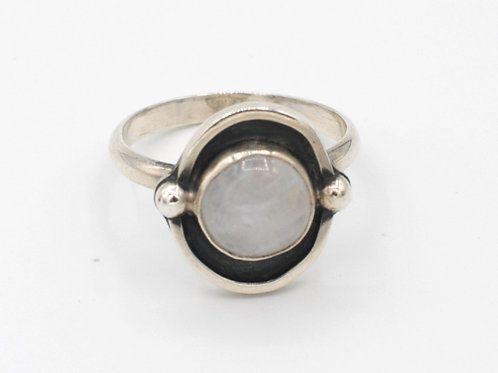 Size 8¼ | Moonstone | Sterling Silver Ring | Rough Hands | RH18