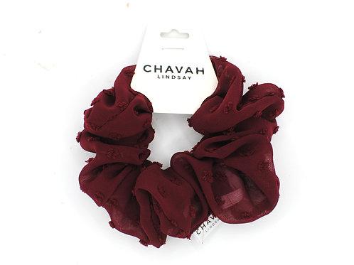 Maroon | Chiffon Scrunchie | Chavah Lindsay | CL010