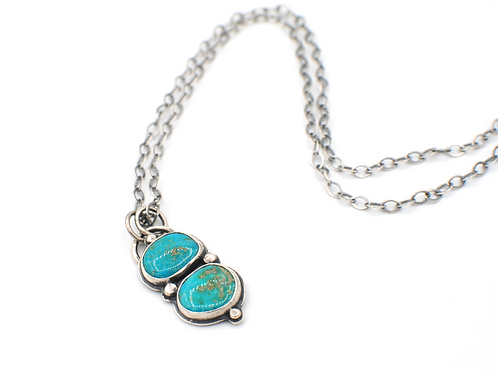 Turquoise | 0.925 Sterling Silver | Chain Included | Rough Hands Silver | RH20