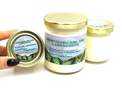 Newfoundland & Labradorite | Patridgeberry | Gemstone Candle | Fundy Treasures