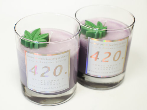 420. | Grape Soda & Candy | Limited Edition Soy & Beeswax Candle