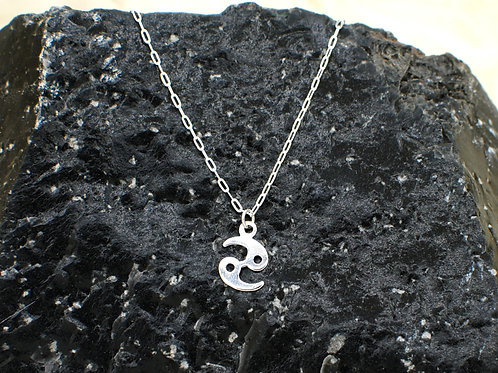 "Cancer | Stacker Necklace | 0.925 Sterling Silver | 16"" or 18"" 