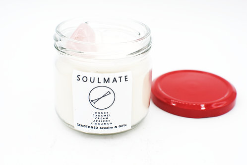 SOULMATE | Intention Candle | Soy Wax | Gemstoned Candle
