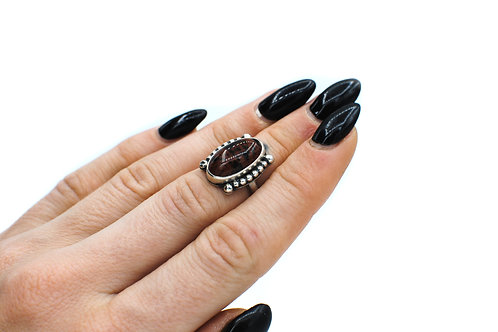 Size 5-5 ¼ | Mahogany Obsidian | Sterling Silver | Rough Hands Silver | RH21