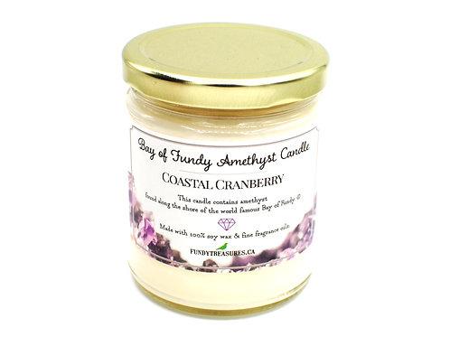 Coastal Cranberry | Amethyst Candle |  Fundy Treasures
