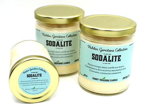 Sodalite | Chamomile Eucalyptus | Hidden Gemstone Candle | Fundy Treasures