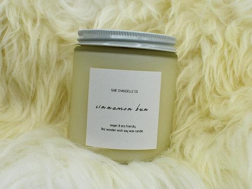 Cinnabon Bun | Soy Candle | Crackling Wooden Wick | Saje Chandelle Co | SAJE02