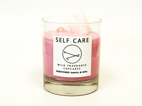 SELF CARE | Intention Candle | Soy Wax | Gemstoned Candle