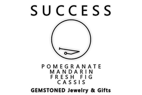 SUCCESS | Intention Candle | Soy Wax | Gemstoned Candle