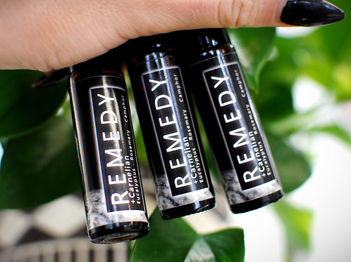 REMEDY | Essential Oil Roll-on | Gemstone Infused Aromatherapy