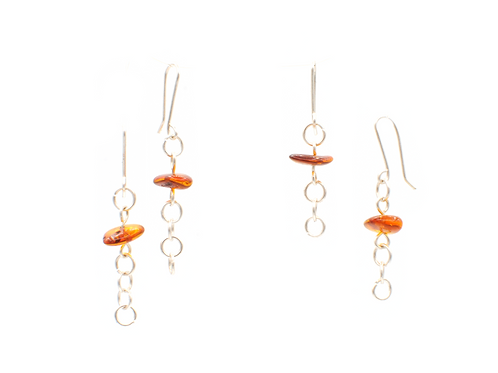 Baltic Amber | Sterling Silver Earrings | GEM00068