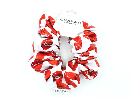 Hot Lips | Hair Scrunchie | Chavah Lindsay