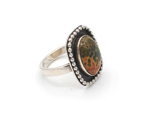 Size 7 | Ocean Jasper | Sterling Silver Ring | Rough Hands | RH17