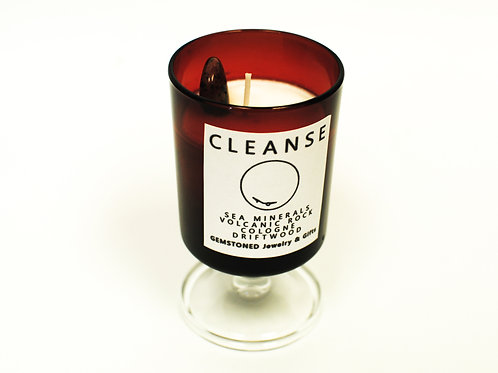 CLEANSE   Intention Candle   Soy Wax   Gemstoned Candle