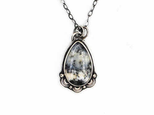 Dendritic Agate | Sterling Silver Pendant | Chain Included | Rough Hands | RH05