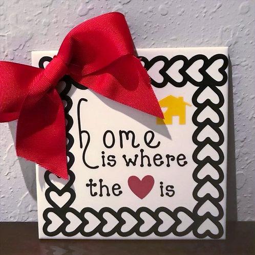 "6"" X 6"" Decorative Tile ""Home & Heart"""