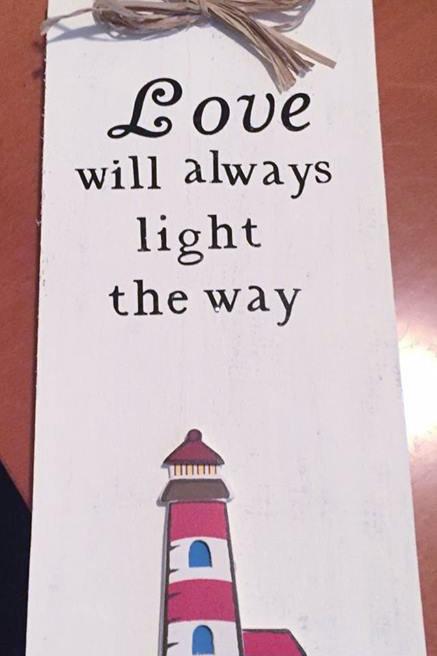 "6"" X 3"" Decorative Tile ""Love's Light"""