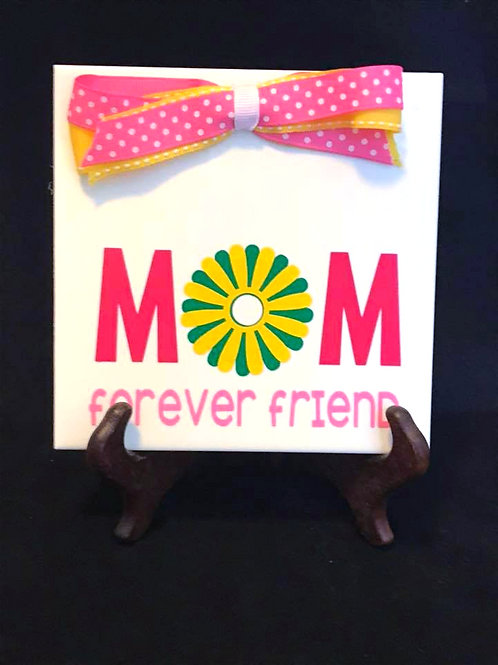 "6"" X 6"" Decorative Tile ""Mom"""