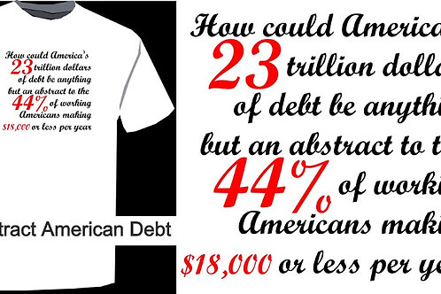 Abstract American Debt