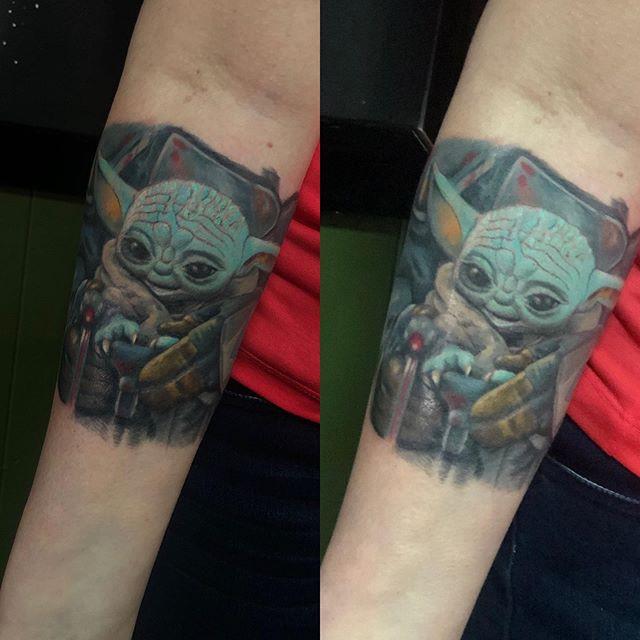 #babyyoda #colortattoo #tattoo.jpg