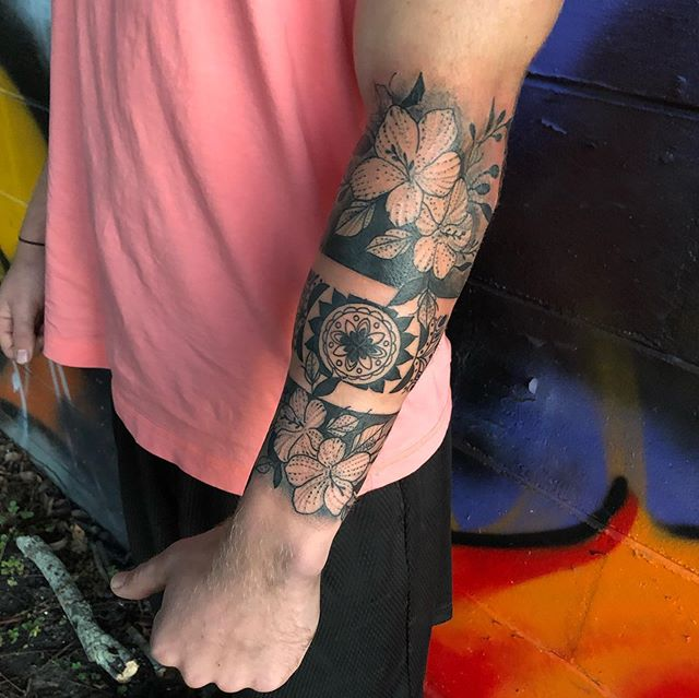Fun arm tattoo I got to do today