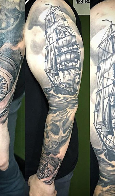 Update on a #wip #ship #sleeve #tattoo #