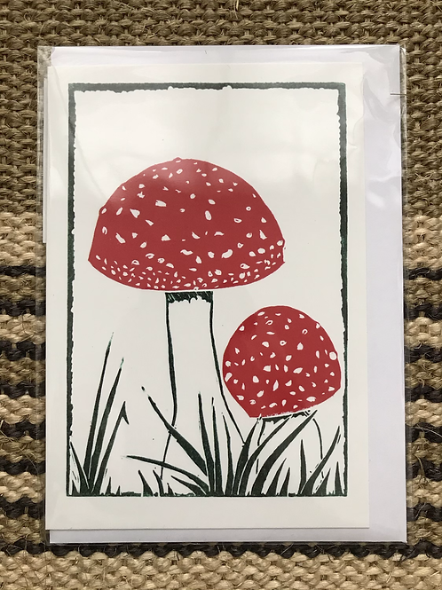 'Mushrooms' Greetings Card