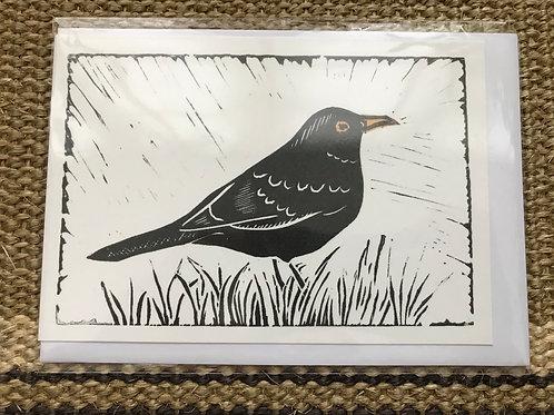 'Blackbird' Greetings card