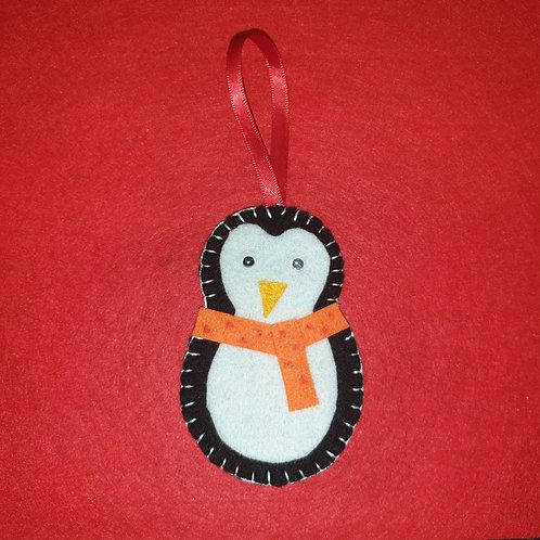 Christmas Penguin Decoration (Personalise)