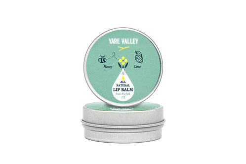 All Natural Honey and Lime Lip Balm Tin