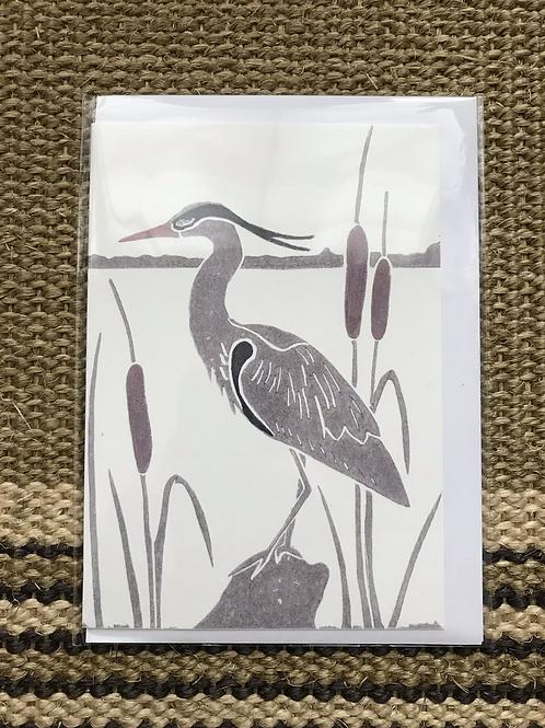 'Heron' Greetings Card