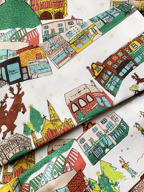 'Christmas in Norwich' Tea Towel