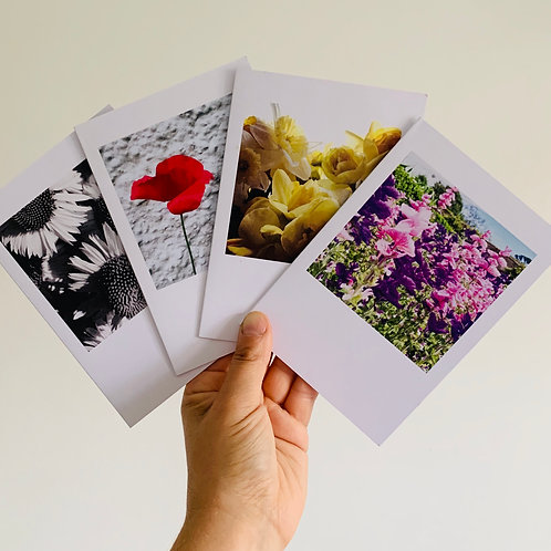 Simple Flower Polariod (4 Pack)