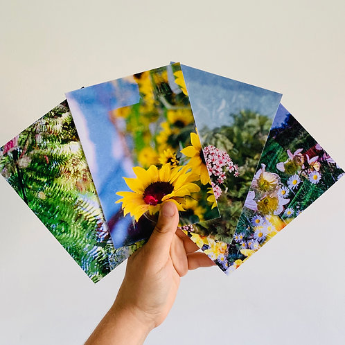Floral Double Exposure (4 Pack)