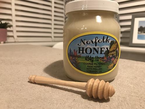 Wooden honey drizzler