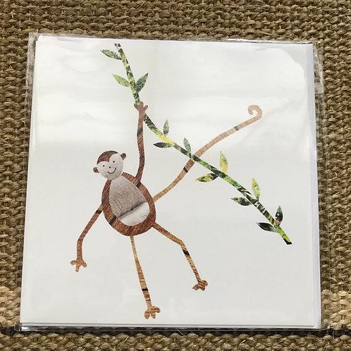 'Monkey' Greetings Card
