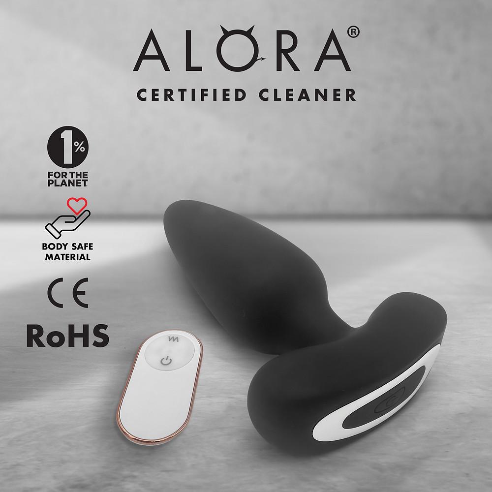 Alora Butt Plug Vibrator & Remote.