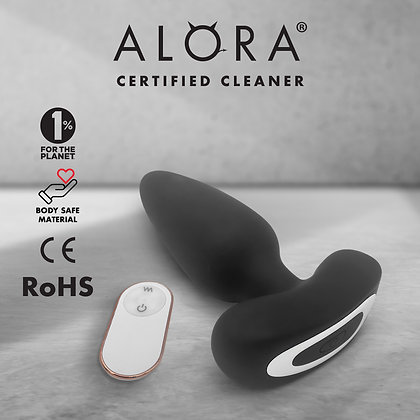Butt Plug Vibrator   Discreet Prostate Massager + Remote   Anal or Vaginal Plug