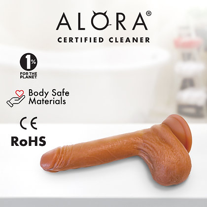 Realistic Suction Cup Dildo: Soft Silicone. Waterproof Flexible 7 inch Penis