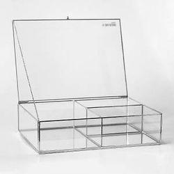 hediyelik cam kutular alti ve gumus renk