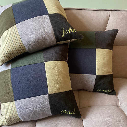 Memory cushion- patchwork square